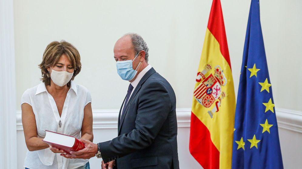 Foto: El ministro de Justicia, Juan Carlos Campo, recibió a la fiscal general del Estado, Dolores Delgado. (EFE)