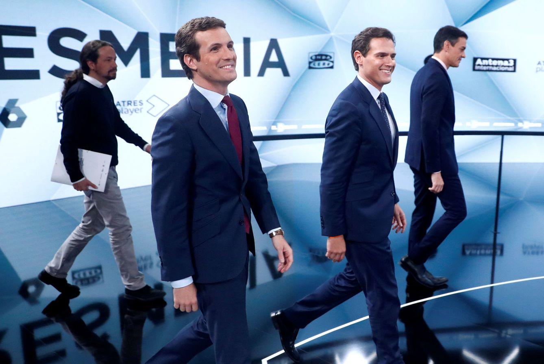 Iglesias, Casado, Rivera y Sánchez en el debate de Atresmedia del pasado 23 de abril. (Reuters)