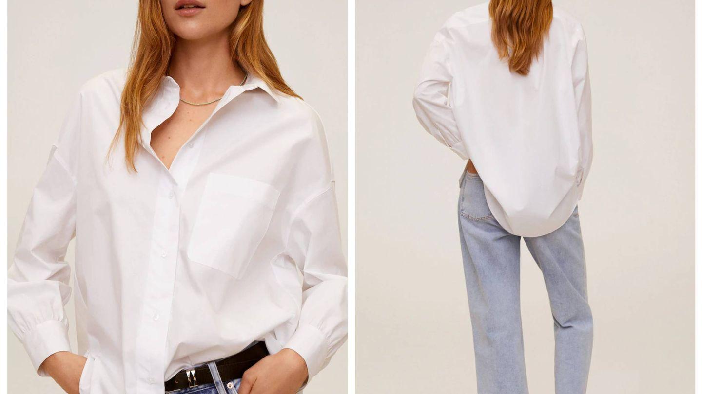 Camisa blanca de Mango. (Cortesía)