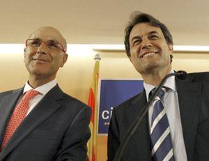 Mas y Duran firman la paz y reafirman la candidatura conjunta de CiU al Congreso
