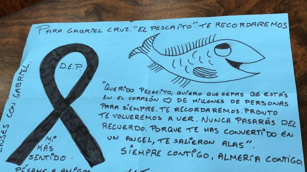 Foto: Mural para Gabriel. (Agustín Rivera)