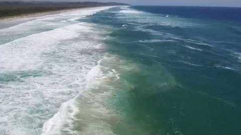 Rescatan con un dron a dos bañistas en apuros en Australia