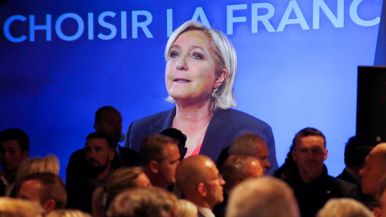 Marine Le Pen agradece el apoyo a sus electores. (Reuters)