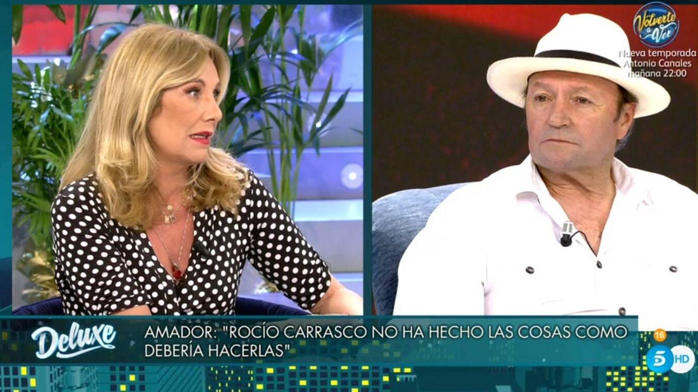 Belén Rodríguez y Amador Mohedano, en 'Viernes Deluxe'. (Telecinco).