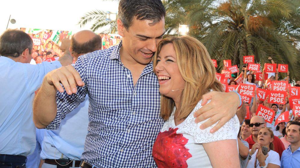 Foto: Pedro Sánchez y Susana Díaz.