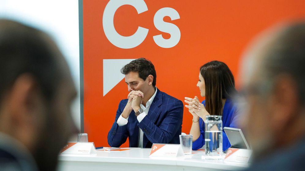 Foto: El líder de Ciudadanos, Albert Rivera, en el Comité Nacional celebrado por la formación. (EFE)