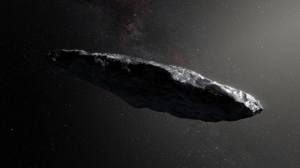 Foto: Impresión artística del primer asteroide interestelar (M. Kornmesser / ESO)