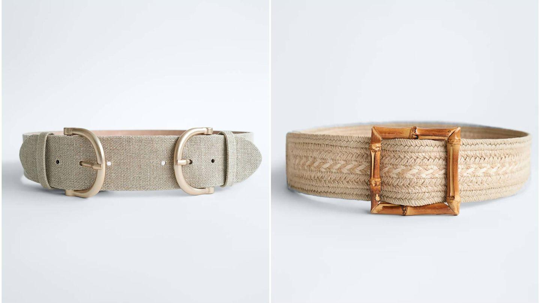 Cinturones de Zara para estilizar la figura. (Cortesía)