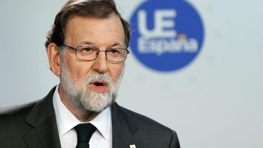 Foto: Mariano Rajoy, durante la rueda de prensa de este viernes en el Consejo Europeo. (Reuters)