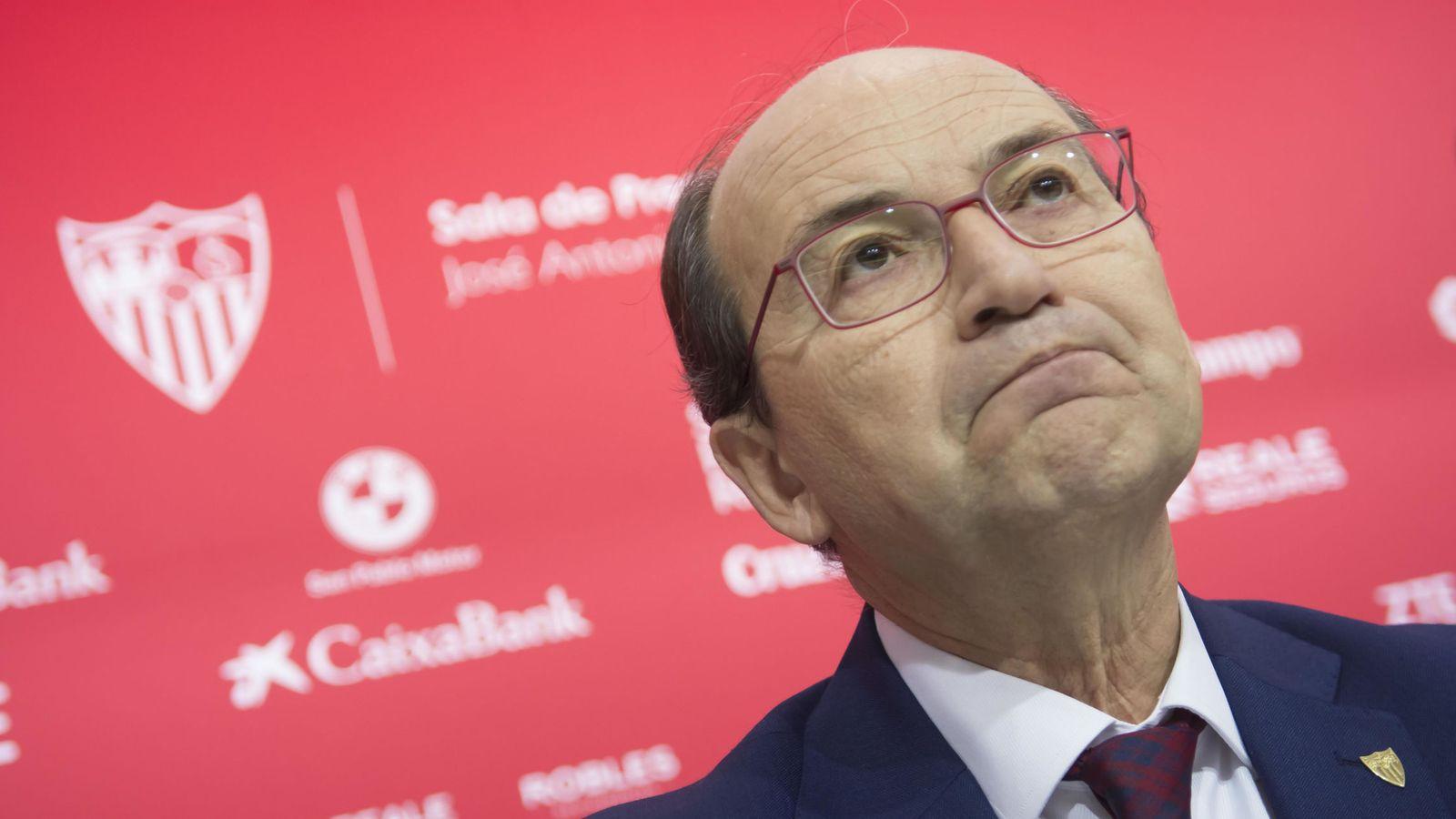 Foto: En la image, José Castro, presidente del Sevilla. (EFE)