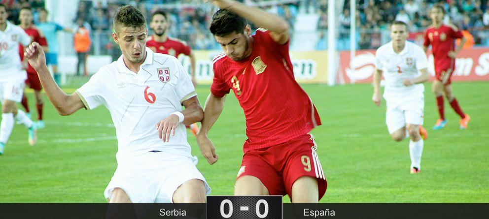 La Rojita se atasca en Serbia y se jugará la clasificación en la vuelta tras empatar sin goles