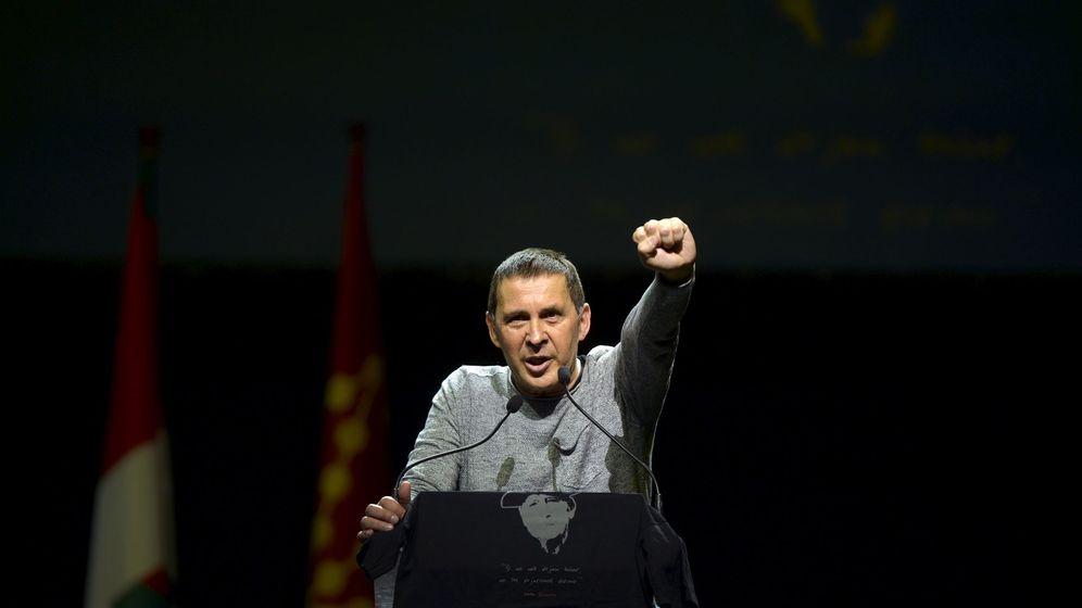 Foto: Arnaldo Otegi durante su discurso. (Reuters)