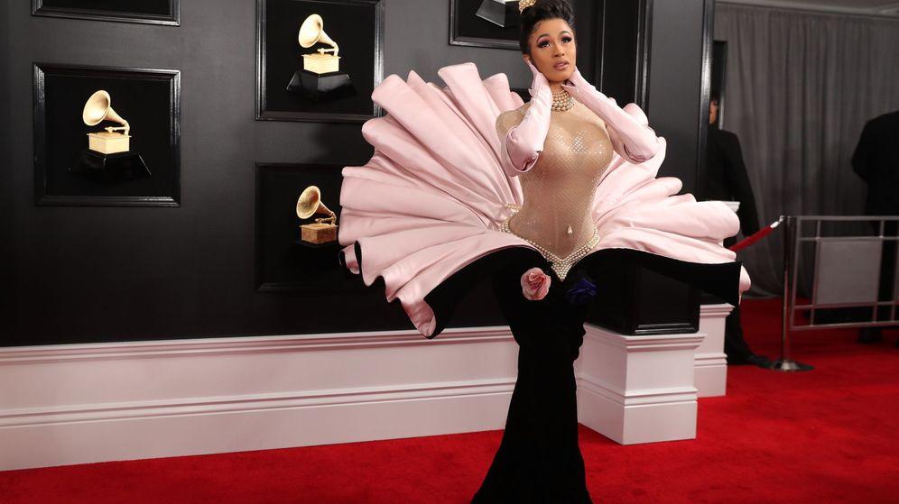 Foto: Cardi B vestida de Mugler en los Grammy. (Reuters)