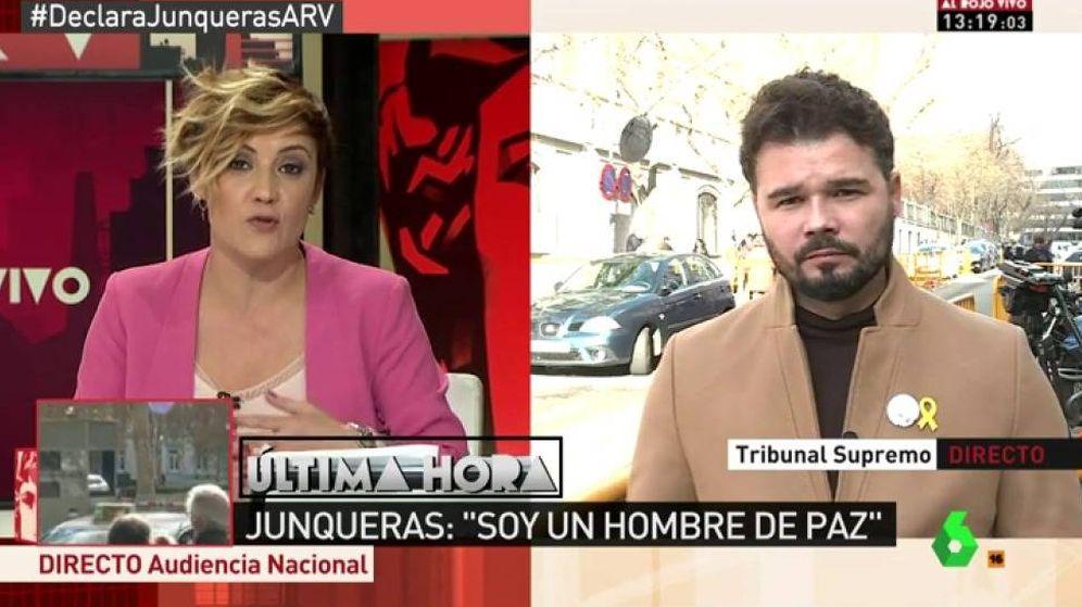 Foto: Cristina Pardo entrevista a Rufián.