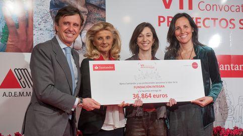 Los empleados de Banco Santander entregan 368.000 euros a diez ONG