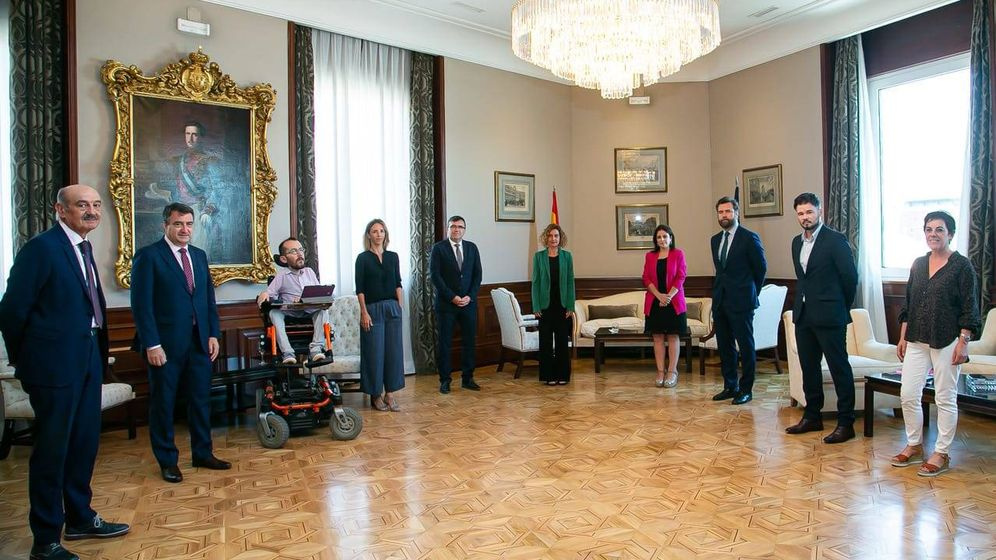 Foto: Reunión de portavoces parlamentarios del Congreso con la presidenta, Meritxell Batet, el pasado martes.