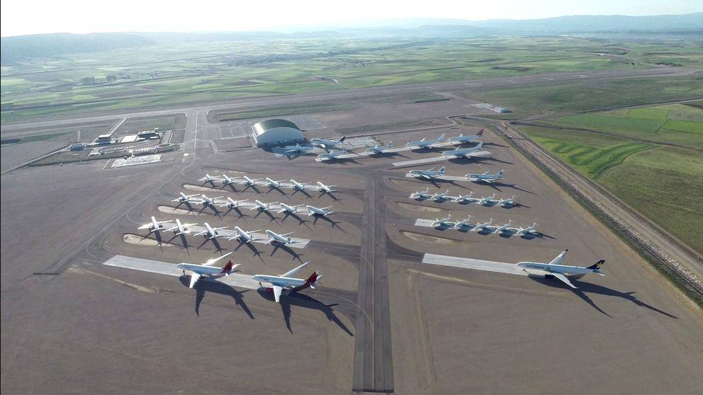 El 'aeropuerto milagro' de Teruel: el mayor parquin de aviones de Europa