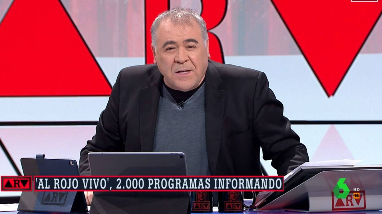 Ferreras celebra 2.000 'Al rojo vivo': Perdón si en algún momento no he estado acertado