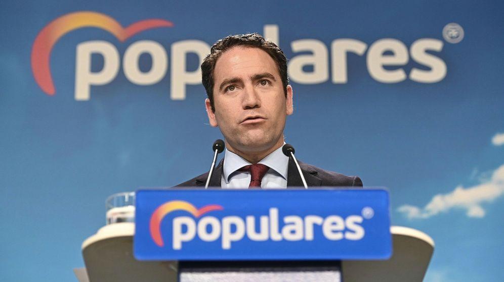 Foto: El secretario general de Partido Popular, Teodoro García Egea, durante la rueda de prensa que ofreció este martes. (EFE)