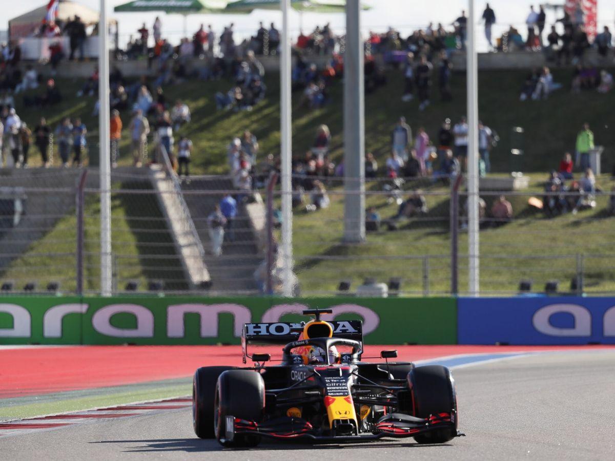 Foto: Verstappen, en una imagen del GP de Rusia. (Efe)
