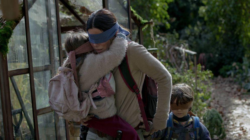 Foto: La actriz Sandra Bullock, en una escena de la película 'A ciegas'. (Netflix)