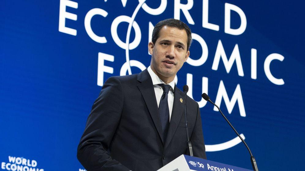 Foto: Juan Guaidó durante su intervención en Davos. (Reuters)