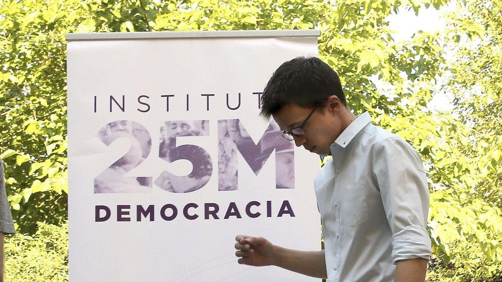 Foto: El secertario político de Podemos, Íñigo Errejón, durante los cursos de verano que organizó el Instituto 25-M por la Democracia, el 'think tank' de Podemos. (EFE)