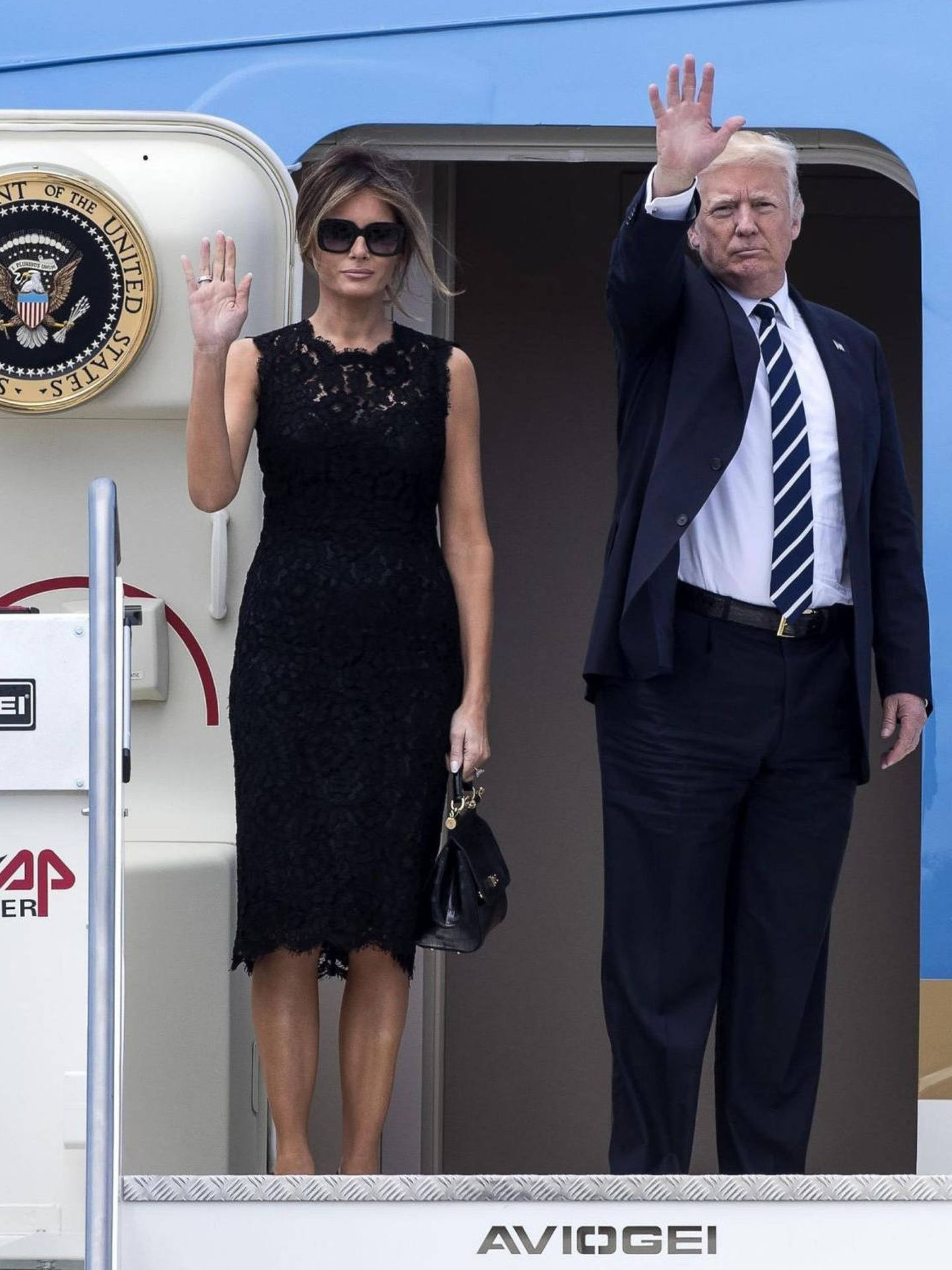 Melania y Donald Trump. (EFE)