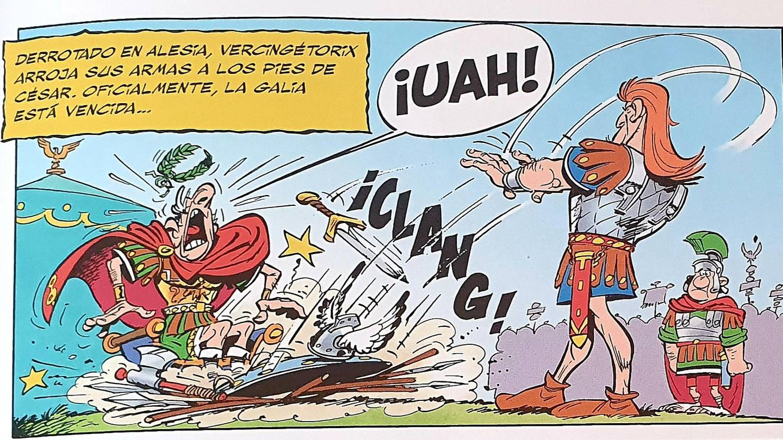 Viñeta de Uderzo y Gosciny para 'Astérix y el Escudo Arverno'.