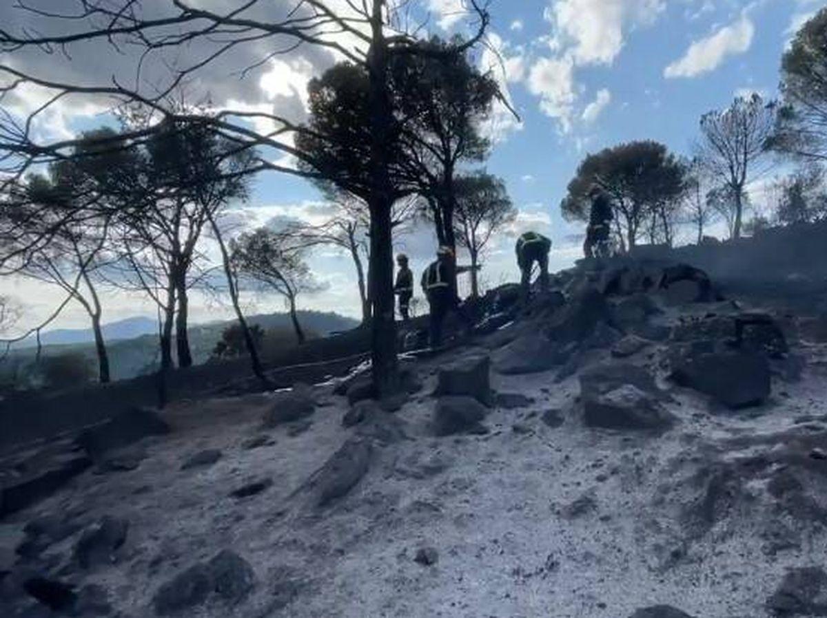 Foto: Imágenes del incendio en el embalse de San Juan. Foto: 112 Comunidad de Madrid
