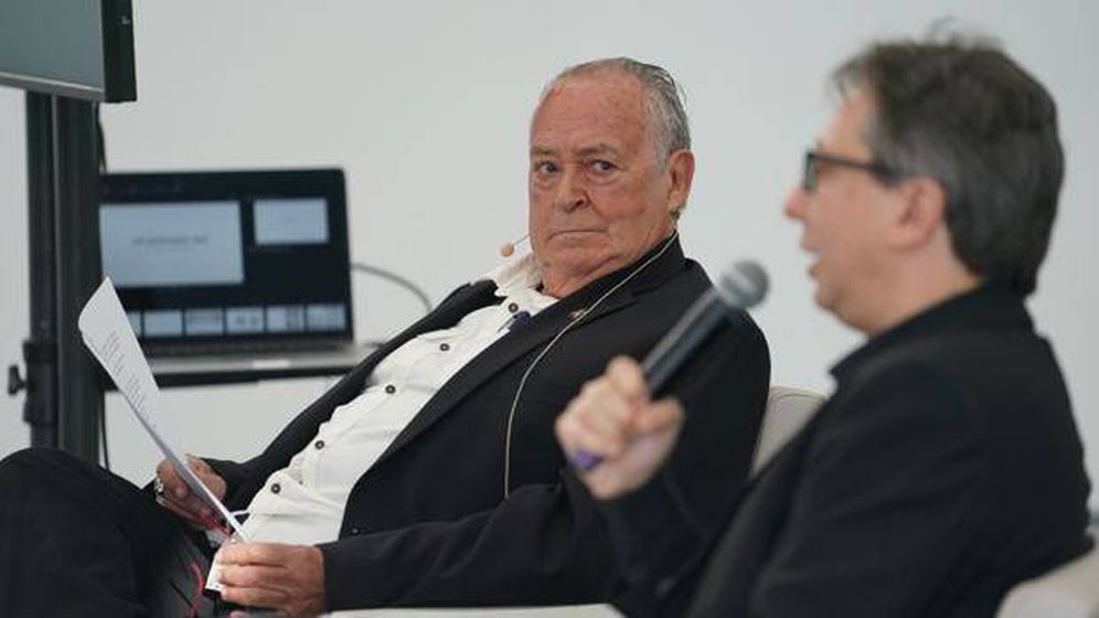 Foto: Rafael Tous, con el director del Macba, Ferran Barenblit. (Macba)