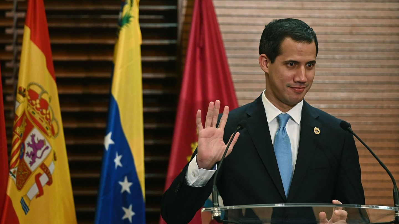El presidente de la Asamblea Nacional venezolana, Juan Guaidó (i). (EFE)