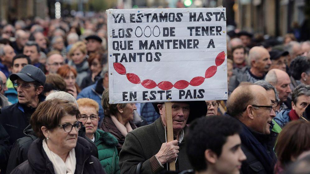 Foto: Manifestación de pensionistas en San Sebastián (Efe)