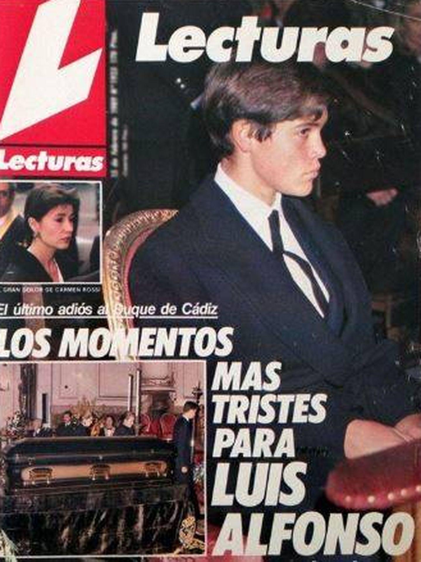 La portada de 'Lecturas' de aquel momento.