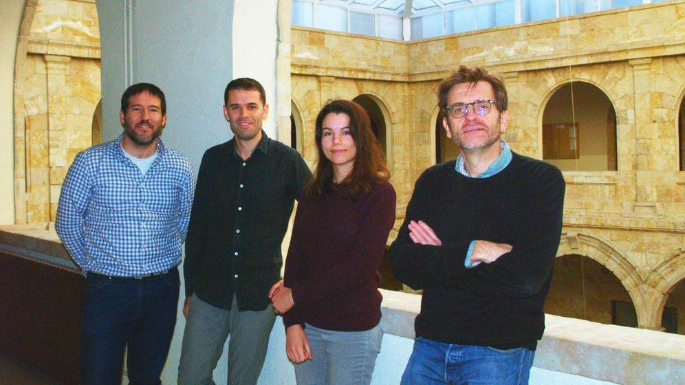 Foto: De izquierda a derecha, Julio San Román, Carlos Hernández, Laura Rego y Luis Plaja. (Foto: J. Pichel)