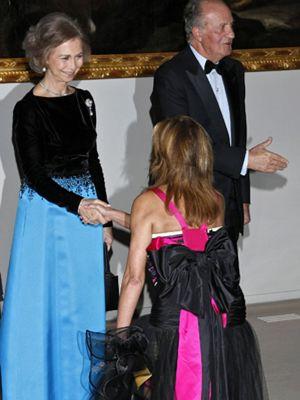 La Casa Real por fin recibe a la baronesa Thyssen
