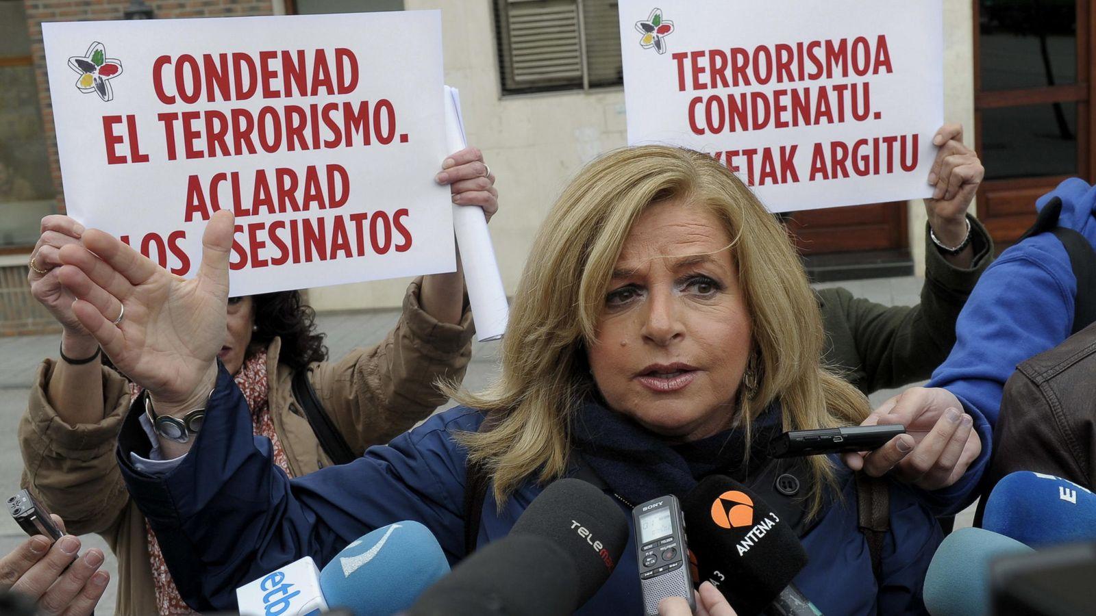 Foto: La presidenta del Colectivo de Víctimas del Terrorismo en el País Vasco (Covite), Consuelo Ordóñez. (EFE)