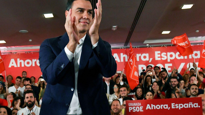 El líder socialista, Pedro Sánchez, en un acto en Granada. (EFE)