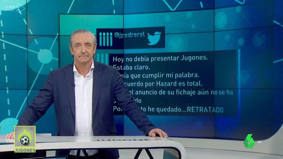 Pedrerol queda retratado tras perder la apuesta de Hazard con el Real Madrid