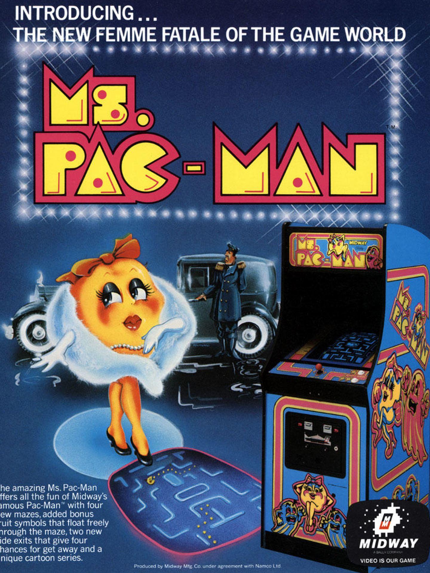 Publicidad de 'Ms Pac-Man'. (Midway)