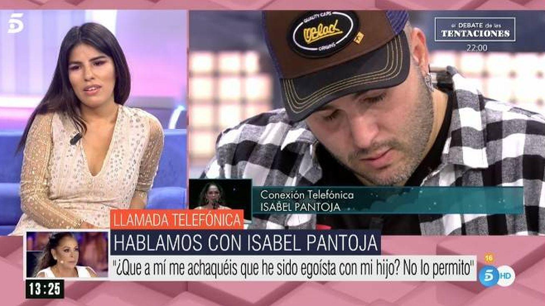 La llamada de Isabel Pantoja a 'El programa de AR'. (Telecinco)