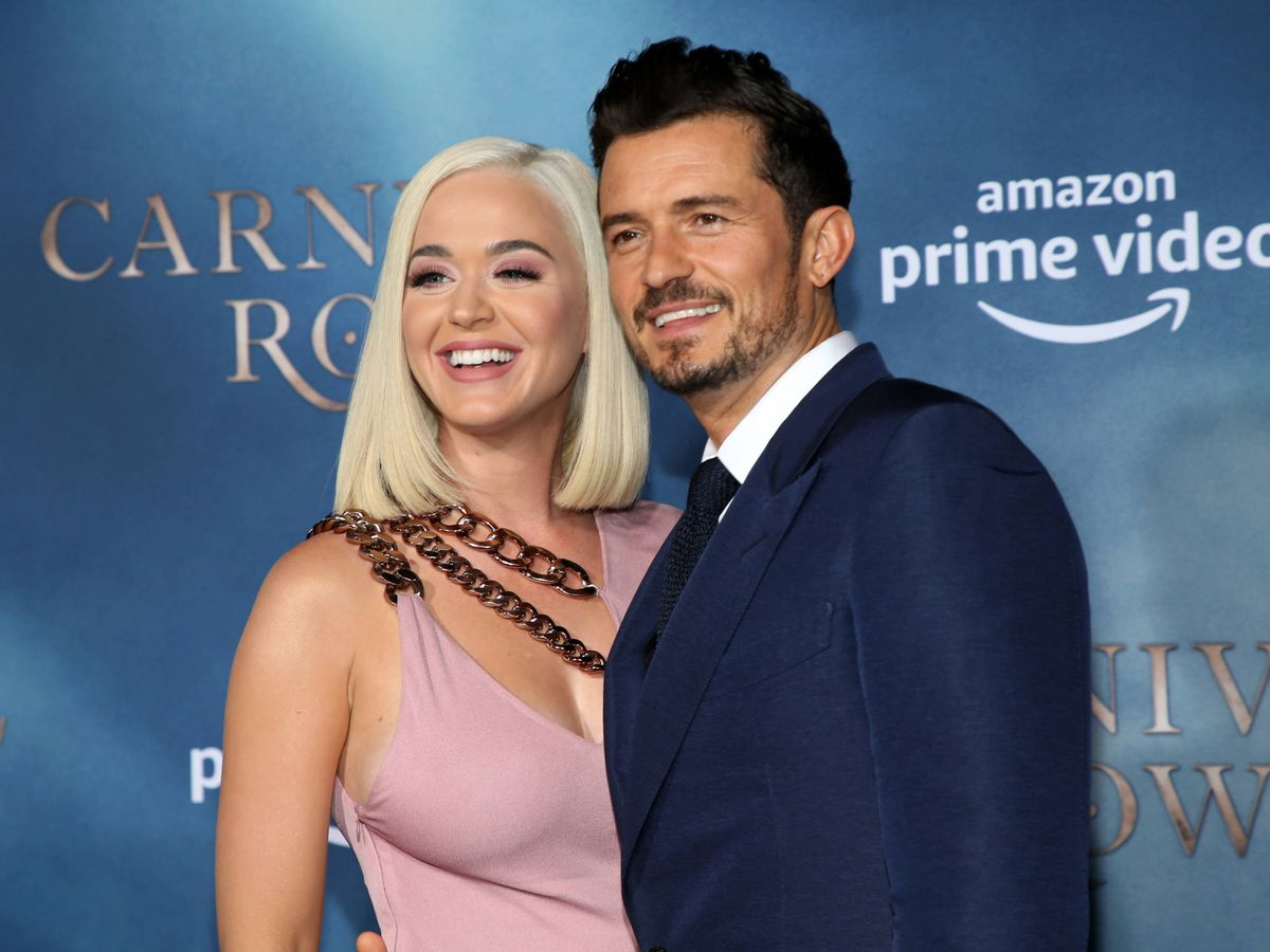 Foto: Katy y Orlando, felices. (Getty)