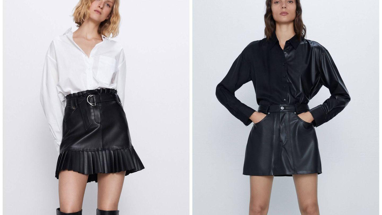 Dos faldas para seguir el estilo de Paula Echevarría en Zara. (Cortesía)