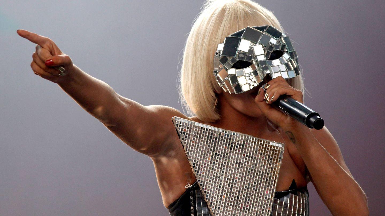 Lady Gaga actuando en Glastonbury en 2009. (Getty)