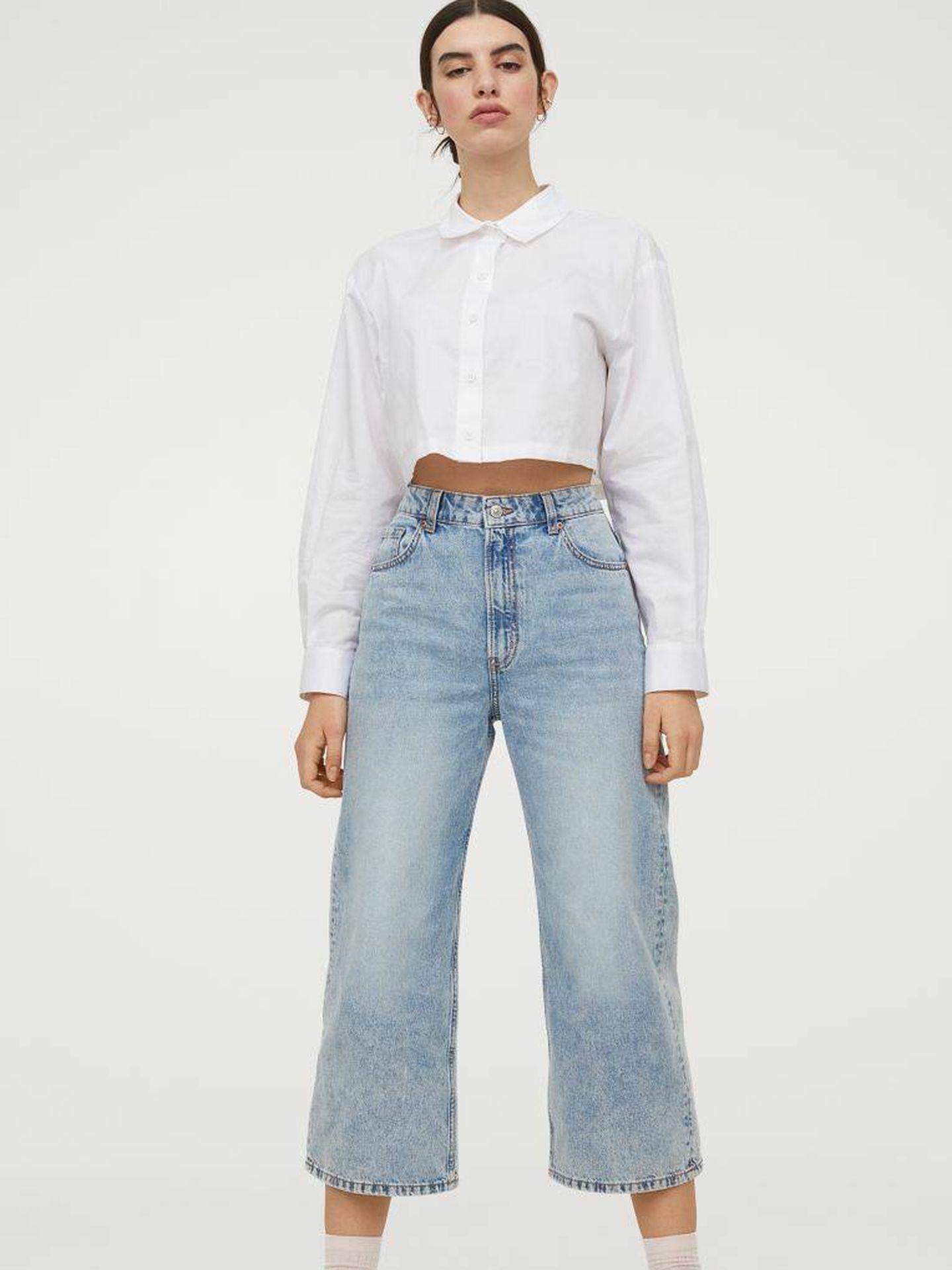 Los pantalones vaqueros culotte de HyM. (Cortesía)