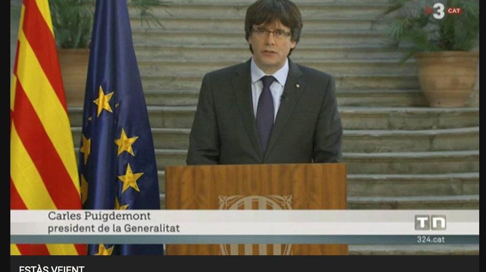 Foto: Carles Puigdemont en TV3.