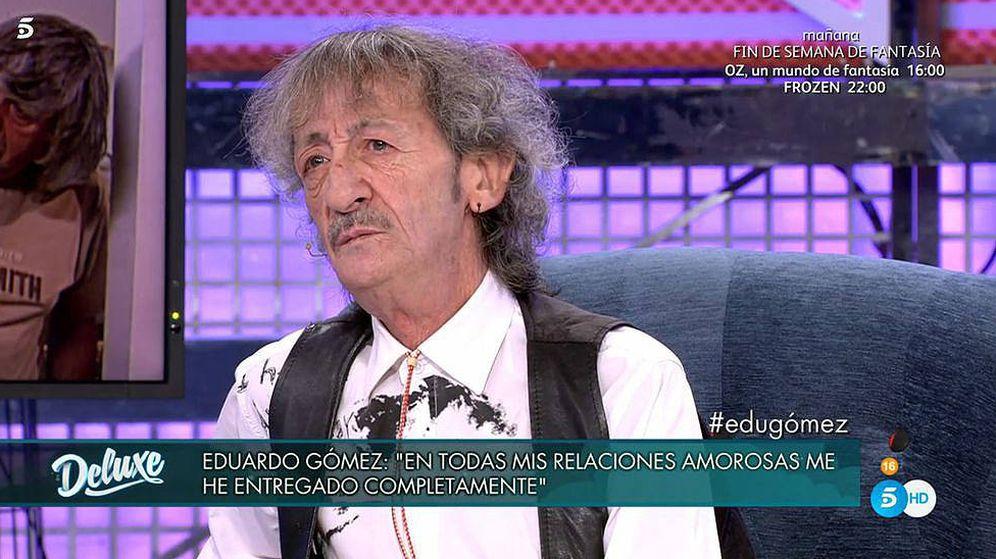 Foto: Eduardo Gómez, en 'Sábado Deluxe'. (Telecinco)