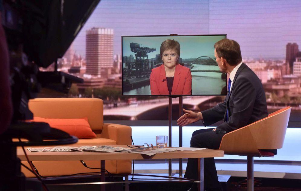 Foto: Nicola Sturgeon durante su entrevista con la BBC, el 26 de junio de 2016 (Reuters).