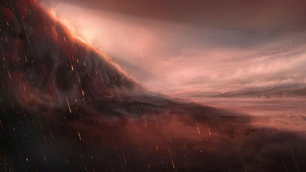 Descubren un planeta en el que llueve hierro