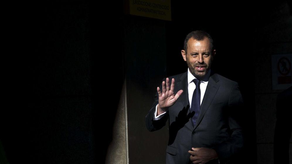 Foto: El expresidente del Barcelona Sandro Rosell, a su llegada esta mañana a la Audiencia Nacional. (EFE)